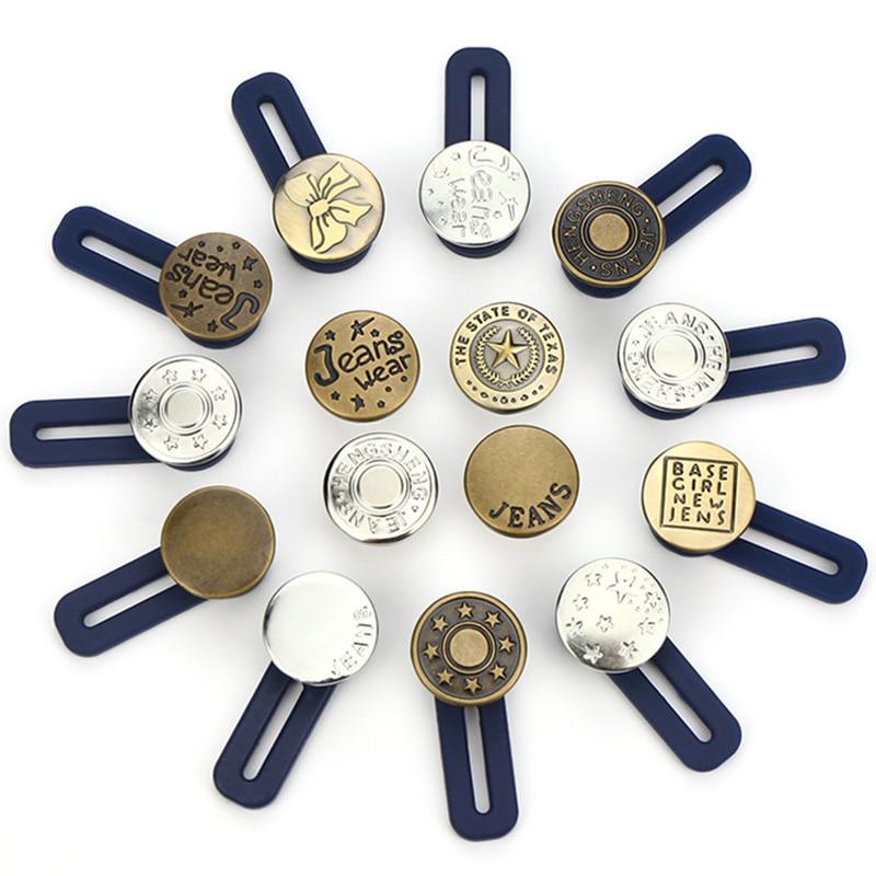 10pcs Jeans Retractable Button Adjustable Detachable Extended Button For Clothing Jeans SER88