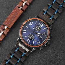 Relogio Masculino  BOBO Bird wood watch Men Quartz Watch Military waterproof Wristwatch Luminous Hand Clock With Wooden Box Gift