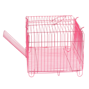 2 Pieces Small Pet Hamster Rabbit House Folding Cage Small Animal Crate 4