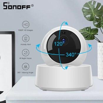 SONOFF GK-200MP2-B Mini Wifi Camera Baby Monitor Surveillance Cameras 1080P HD 360 IR Night Vision Smart Wireless IP Camera 1