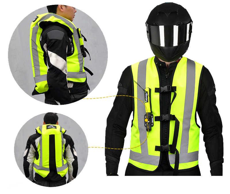 Motocross-veste de protection, Airbag réfléchissant pour moto, gilet, Airbag pour course de motocyclette