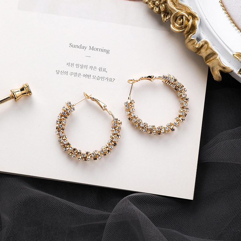 Hd72e175cb87a4db59faa3f0bd0ace3d7P - Fashion Simulated Pearl Statement Big Small Hoop Earrings for Women Exaggerate Circle Earrings Personality Nightclub Jewelry