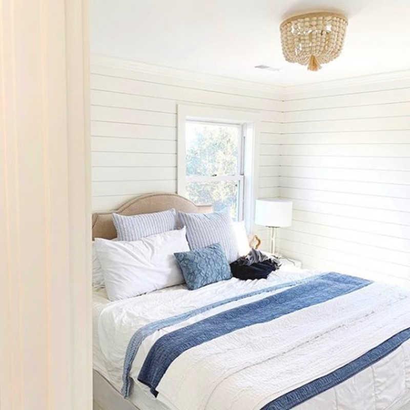 現代ミニマラウンド木製ビーズ E27 led ペンダントランプ子供の寝室クリスタルペンダントライトリビング室のホテルのキッチンランプ