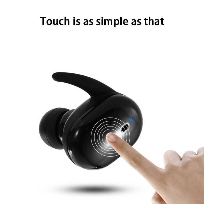 TWS4 หูฟังบลูทูธ V5.0 กีฬาหูฟังมินิหูฟัง TOUCH Control ลำโพงบลูทูธพร้อมกล่องชาร์จสำหรับสมาร์ทโฟน