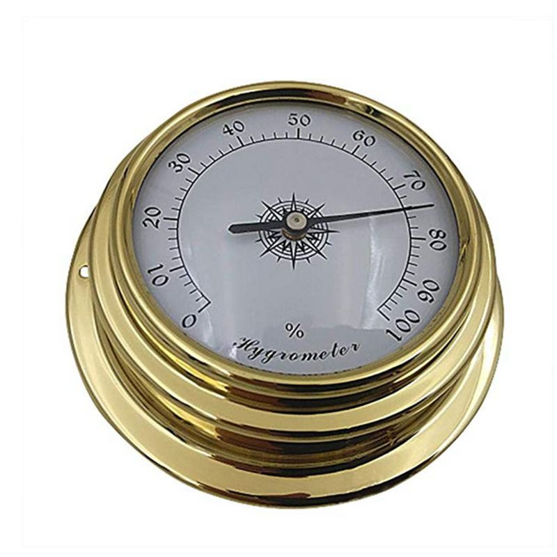 Image 4 - 4 Inches Thermometer Hygrometer Barometer Watches Clock Copper 