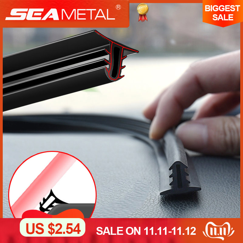 Car Dashboard Sealing Strip Car Rubber Sound Seal Strip 1.6M Auto Windshield Edges Gap Sealing Strips Auto Interior Accessories-in Car Stickers from Automobiles & Motorcycles