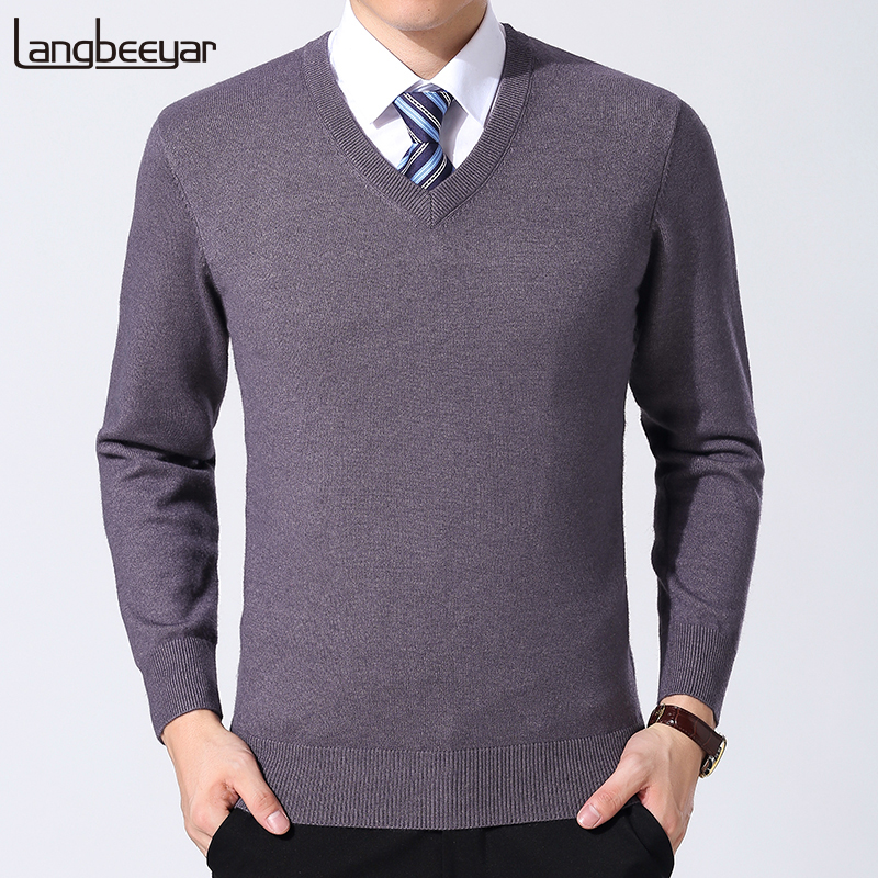 2019 New Fashion Brand Sweaters Men Pullover O-Neck Slim Fit  Jumpers Knitwear Thick Winter Korean Style Casual Mens Clothes