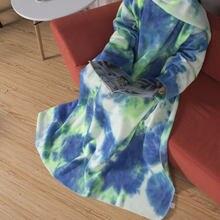 Зимние толстовки большого размера женское теплое ТВ одеяло для