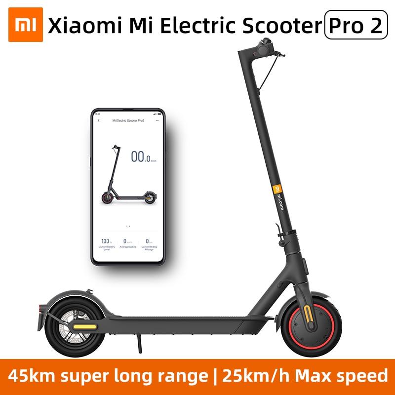 Xiaomi Mi электрический скутер Pro 2 Smart E-Scooter скейтборд мини складной Ховерборд MIJIA Pro2Patinete взрослый аккумулятор 45 км