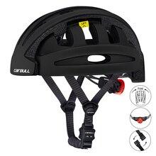 Cairbull CE найти складной велосипедный шлем портативный городской дорожный велосипедный складной шлем с фонариком для мужчин и женщин Casco Ciclismo