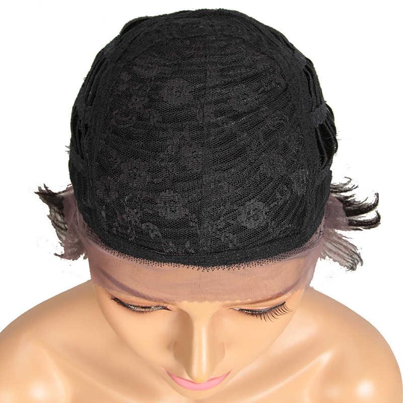 Trueme Front Lace Pruiken Voor Zwarte Vrouwen Remy Braziliaanse Korte En Hoge Pixie Cut Haar Pruiken Lace Front Menselijk Haar pruiken