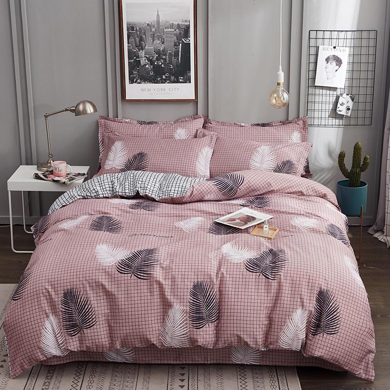 100% Cotton King Queen Size Bedding Set Duvet Cover Bed Sheet Flat Sheet Bed Set Pillowcases Ropa De Cama Parure De Lit