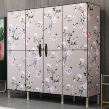Simple fabric closet steel frame bold reinforcement simple economical assembly wardrobe storage cabinet cloth wardrobe