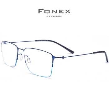 Titanium Alloy Prescription Glasses Men Semi Rimless Myopia Optical Frame Women Korean Screwless Eyewear Prescription Eyeglasses