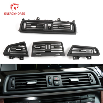 Car Front Row Center/Left/Right/Rear Side Air Conditioner Air Vent Grille A/C Wind Outlet Panel Cover For BMW 5 Series F10 F11 image