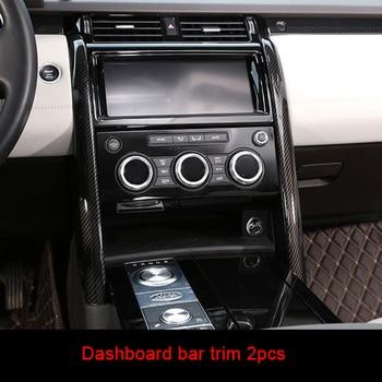For Land Rover discovery5 2017-2019 carbon fiber Central control bar trim 2pcs