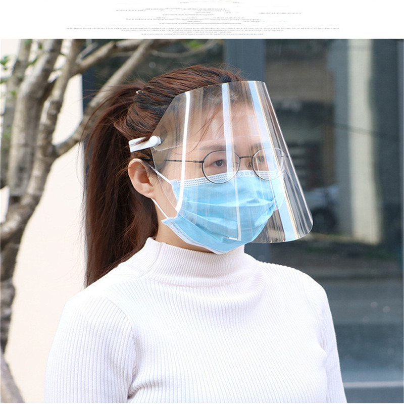 Protective Adjustable Anti-Oil Splash Dust-proof Full Face Cover Mask Visor Shield Droplet Windproof Face Shield Washable