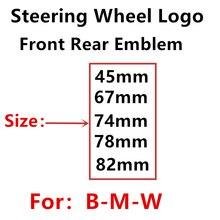 45 мм 67 мм 78 мм 74 мм 82 мм аксессуары для стайлинга автомобиля для капота передний задний багажник эмблема наклейка черный белый синий УГЛЕРОД...