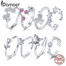 Женское серебряное кольцо bamoer регулируемое из серебра 925