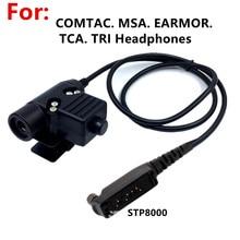 Tactical U94 PTT   For COMTAC MSA EARMOR TCA TRI NATO plug Headphones for Sepura Stp8000 Stp8030 Stp8035 stp8038 Radio