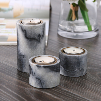 Table Round Marble Personalized Christmas Candle Holder Romantic Christmas Centerpiece Candlesticks Decoration Maison New II50ZT