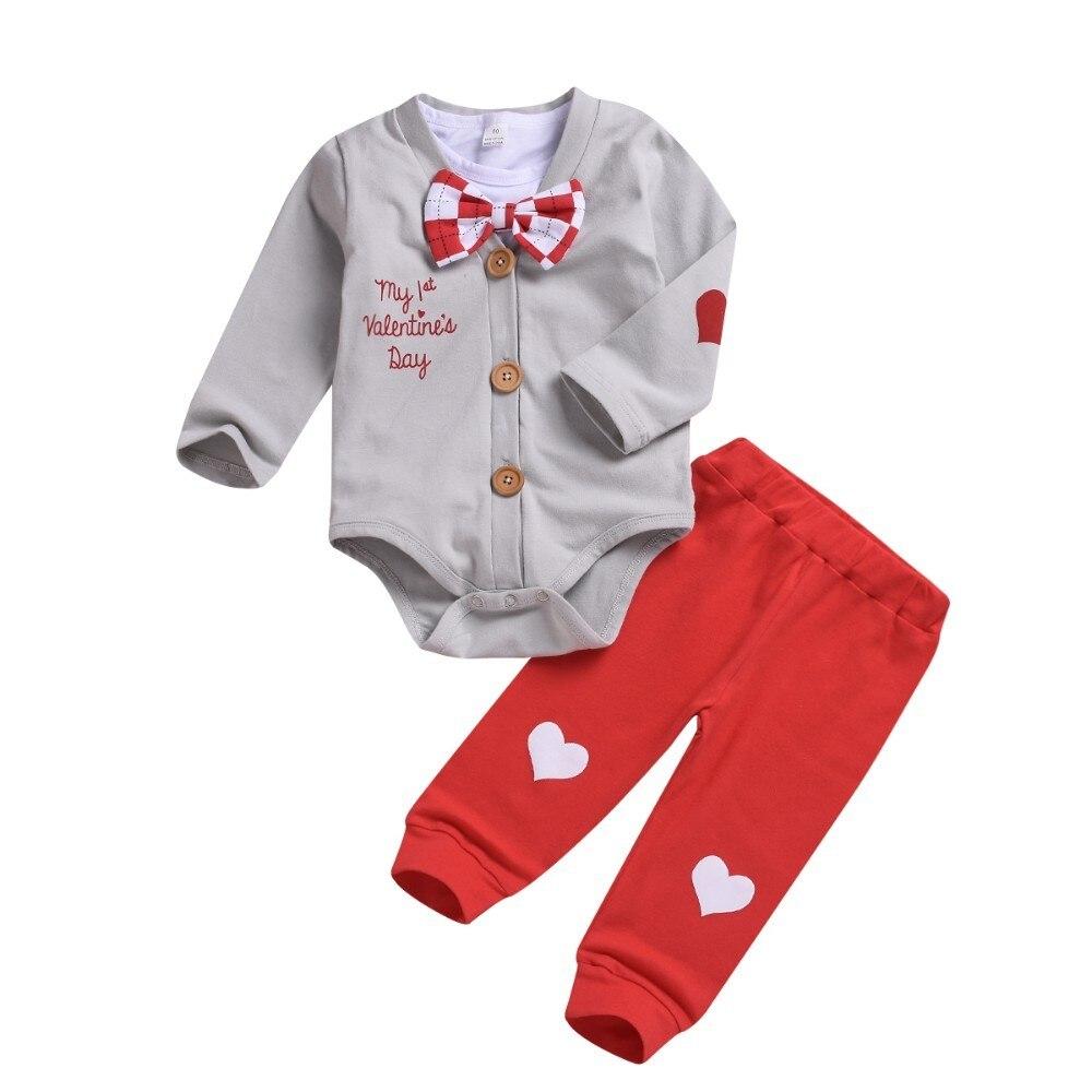 3pcs Boy Clothes Set Valentine Baby Boy Clothing Sets Infant Jumpsuits Gentleman Outfit Sets Bow Tie Shirt+Coat+pants Spring