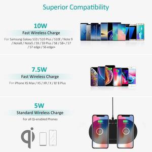 Image 5 - 듀얼 20 w 빠른 무선 충전기 아이폰 xs xr x 8 airpods 2 더블 10 w usb c qi 충전 패드 삼성 s10 s9 s8 참고 10 9 8
