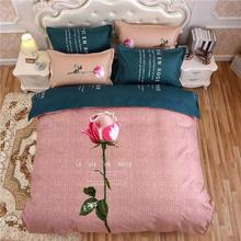 2019 classic fashion bedding set cotton landscape pattern simple sheets, quilt cover sheets pillowcase 4pcs