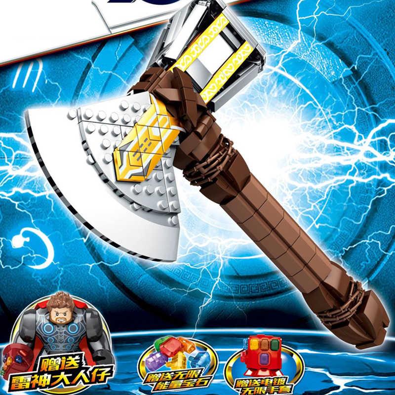 2019 süper kahraman fikirleri Tron Thor fırtına balta silah kaptan amerika süper kahraman marvel yapı taşları setleri tuğla kitleri Ninja film