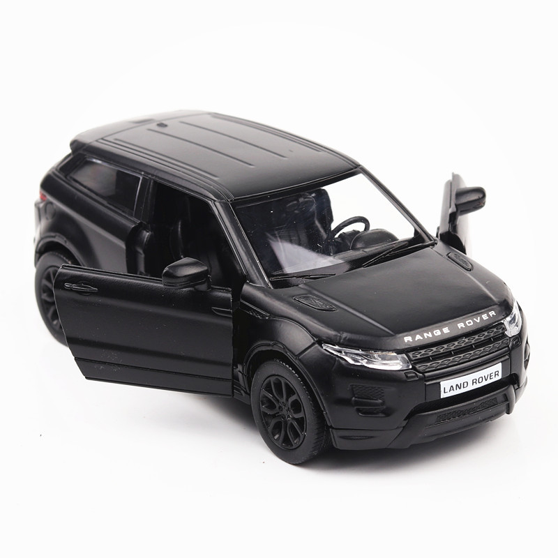 Simulation Toy Vehicles Diecast Metal Alloy Car Models For Range Rover Evoque Model Cars Toy Vehicles Matte Black For Kids