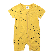 Baby Romper Newborn Pajama Body-Suit Animal Little-Star Cotton Short Zipper BR299