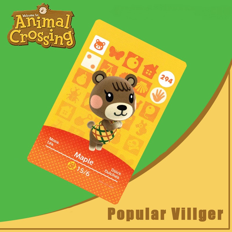 294 Animal Crossing Amiibo Card Maple Amiibo Card Animal Crossing Series 3 Maple Nfc Card Work For Ns Games Dropshipping