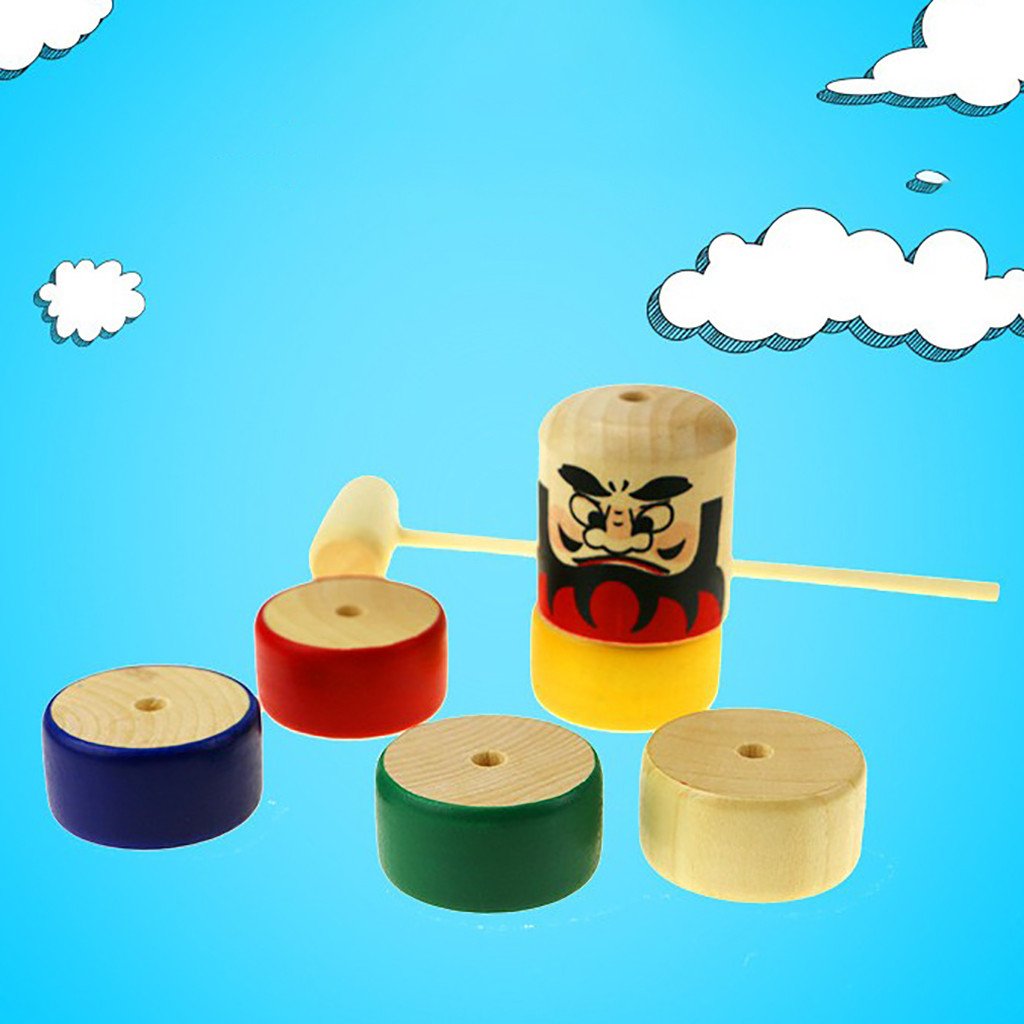 Learning Education Toys wooden Puzzle toy Children's Gifts Wooden Puzzle Tapping Balance Children's Early Education Toys  Y1118