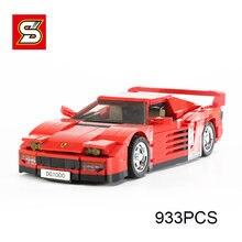 1286 pçs esportes de corrida modelo de carro bloco de construção cidade criador high-tech clássico racer veículo tijolos define crianças brinquedos presentes