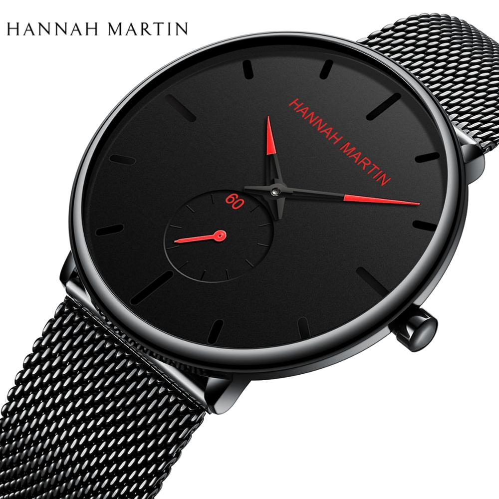 Fashion Top Brand Luxury Quartz Watch Casual Slim Mesh Stainless Steel Waterproof Fashion Casual Men Watches Relogio Masculino