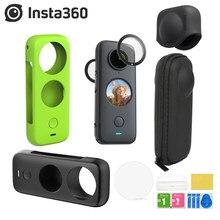 Insta360 um x2 lente guardas corpo da câmera caso silicone saco de armazenamento proteção tampa da lente para insta 360 um x2 acessórios