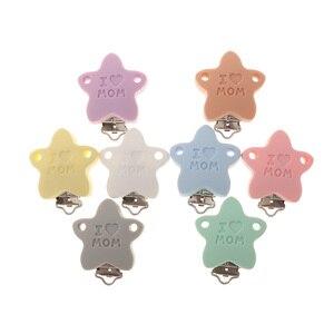 Image 5 - Fkisbox 10 шт. Медведь силиконовый коала держатель для соски BPA бесплатно мышь соски клипсы для прорезывания зубов ожерелье жевательная цепочка для прорезывания зубов застежки