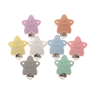 Image 5 - Fkisbox 10pc Bear Silicone Koala Nipple Holder BPA Free Mouse Pacifier Clips Baby Teether Necklace Chewing Teething Chain Clasps