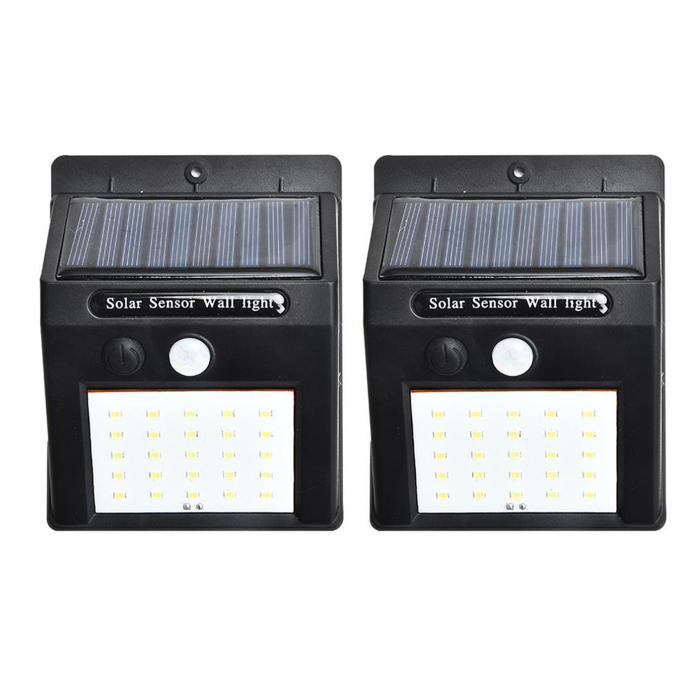 2pcs/set 20 LED Solar Lights Motion Sensor Wall Light Outdoor Garden Yard Lamp Waterproof Outdoor Waterproof Light
