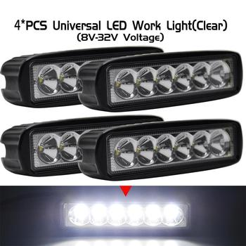 4*PCS Spot LED Work Light Bar Off Road Driving Lamp For Ford F150 F250 F350