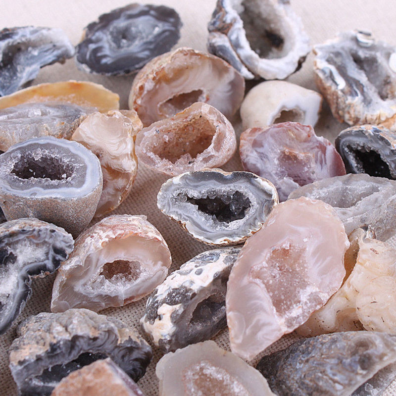 Geodes Collection Raw Stones Slice Natural Crystals Halves Healing Grade Beads For Jewelry Making Gifts For Women