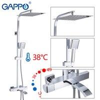 GAPPO смесители для душа термостатическая Ванна комната душевой набор термостатическая Ванна Душ водопад насадки для душа хромированный сме