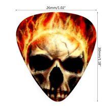 10pcs Guitar Picks Color Printing Skull Image for Bass Banjo Mandolin Ukulele K1MB