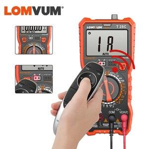 Image 2 - LOMVUM Digital Multimeter Auto 6000 Zählt Display Multimeter Tester 2 Sonden Spannung Strom Kapazität Mess