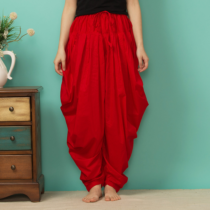 Indian Punjabi Pants Trousers Shalwar  India Spring And Summer Pants Multicolor Cotton Radish Pant Pleated Salwar