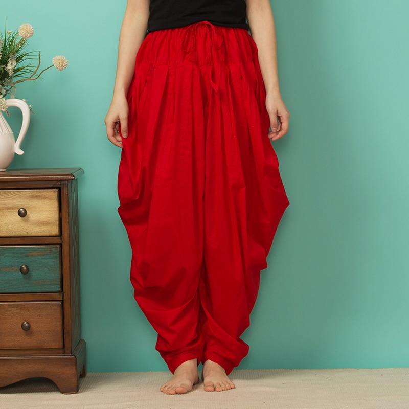 Indian Punjabi Pants Trousers Shalwar  India Spring And Summer Pants Multicolor Cotton Radish Pant Pleated Salwar