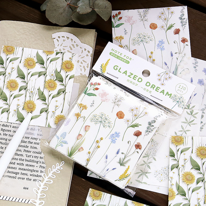 Liuli Old Dream Series Retro Collage Memo Pad Message Sticky Notes Decorative Notepad Note Paper Memo Stationery Office Supplies
