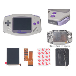 Image 2 - FOR GBA IPS V2 4 PIXELS IN 1 FULL VIEWING LCD KITS BACKLIGHT FOR GAMEBOY ADVANCE REPLACE 10 Levels Of Brightness screen