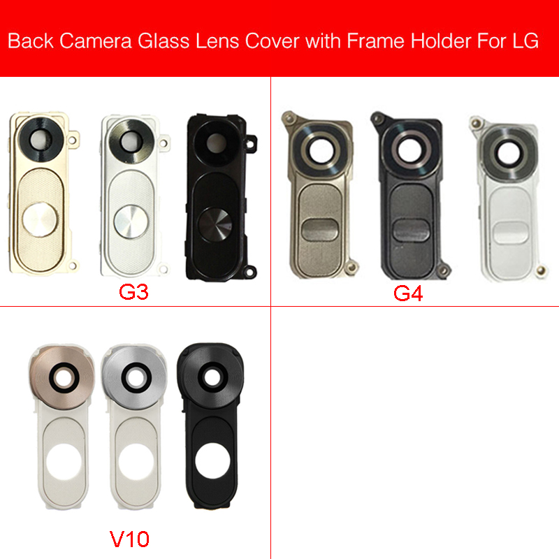 Rear Camera Glass Lens Cover For LG G3 G4 V10 D850 D851 D855 Back Camera Glass Lens Big Camera Cover Replacement Repair Parts image