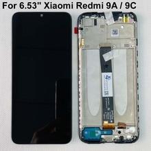 "Original New For 6.53"" Xiaomi Redmi 9A LCD Display Screen+Touch Screen Digitizer For Redmi 9C/Redmi 9i /Redmi 9AT With Frame"